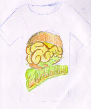 Zombie-meal T-Shirt by Mawee1034