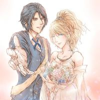 FF15:King_Noctis_and_Lunafreya. by BloodBlueRain