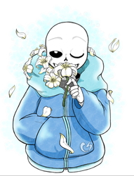 MemoriaTale - Sans and Lillies by ConnieSpell