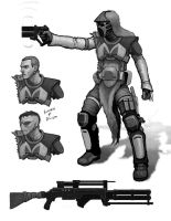 Bounty Hunter Concept - 3 by philldwill
