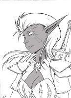 Drow by RisingDragonArt
