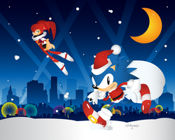 Sonic and Nights Christmas edition by Linkabel32