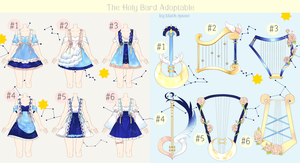 [CLOSED] Holy Bard Outfit Adoptable #18 item #3 by Black-Quose