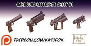 Handguns Set 1 by Kate-FoX