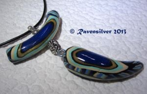 Peacock Feather two part Pendant by Ravensilver