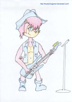 Sally with a blue guitar by BlueSonicGamer