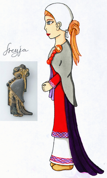 A slightly more historically accurate Freyja. by Iglybo