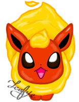 Commission Me Chibi Flareon 2 by Leafye