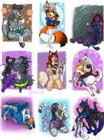 Favorite Plushie Commissions Set 5 by v-e-r-a