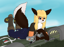 Taylor Toys With Some Trains by DeferredGalaxy3