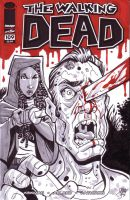 Walking Dead Michonne Sketch Cover by calslayton