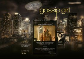 Gossip Girl: website design [1 tour] by Julia-Emerson