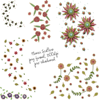 Flower Scatters by HGGraphicDesigns