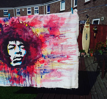 huge water colour hendrix by Evlisking