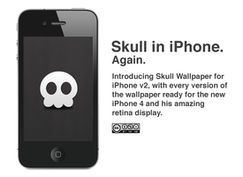 Skull Wallpaper for iPhone v2 by LordZoltan