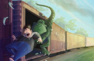 Catching the Train by LynxGriffin