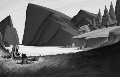 cato cabin on the lake WIP by the-art-of-B