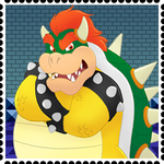 Bowser Stamp by RetroUniverseArt