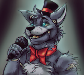 .:Time to sing:. Max the wolf by JuliArt15