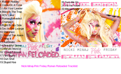 Nicki Minaj-Pink Friday:Roman Reloaded Tracklist by nickyyckin