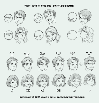 Fun with Facial Expressions by what-i-do-is-secret