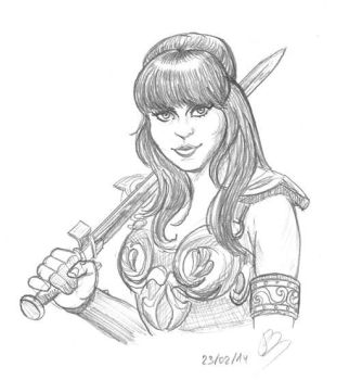 Xena sketch by Kumanagai