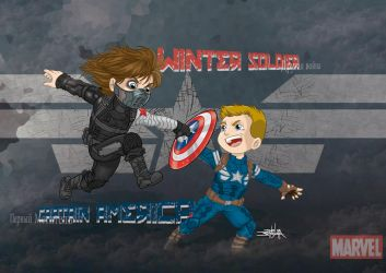Captain America The Winter Soldier Colors by JeanSinclairArts