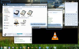 Windows7 Black Transparent by pegass