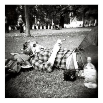 B+W Holga - Relaxing by InvisibleSnow
