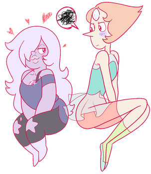 Amethyst and Pearl by tiosmio25