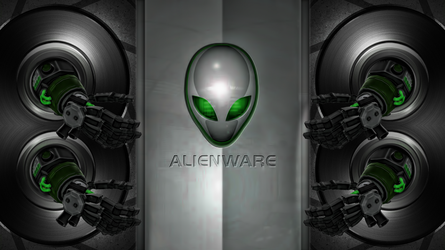 WALLPAPER ALIENWARE GREEN by ALIENWARE ASUS by FAFA116