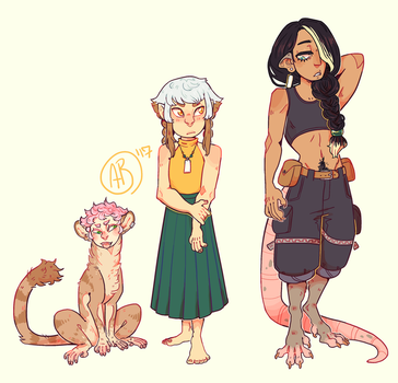 [MT] Re-designed characters by R3llO
