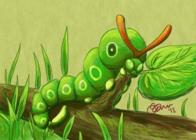 010 caterpie by CapnShortstack