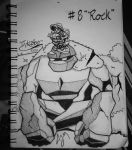 Inktober Day 8: (Rock) by FeralDoodle