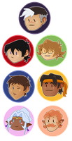 Voltron: Legendary Defender buttons by Vanzish
