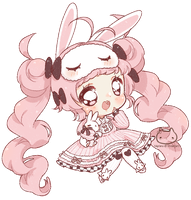 [C] Crayon Chibi Commish by Valyriana