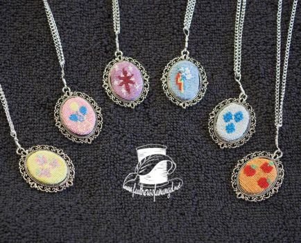 Mane Six Pendants - SALE by SongThread