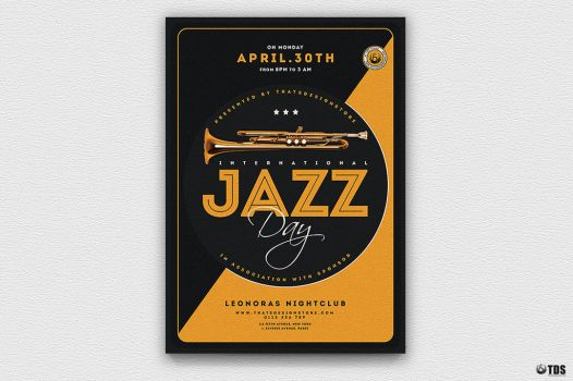 Jazz Day Flyer Template V3 by Thats-Design