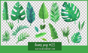 Leaves PNG #3 by AugT30