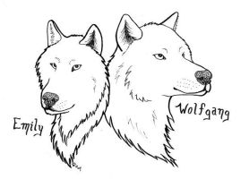 Wolfy and I by arikla
