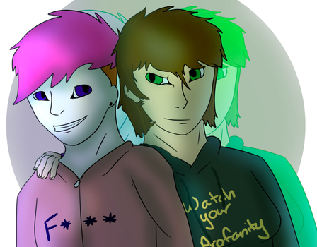 Two Geniuses but One is Canadian .:Half-Gift:. by SwagFeather