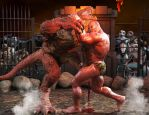 Main Event at the Reptilian Arena by SimonWM
