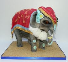 Indian Elephant Cake by KirstysCakes