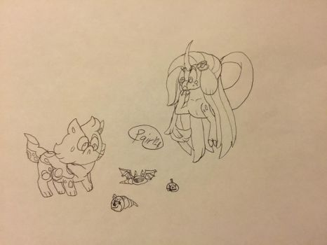 Capria Inktober 28 - Spoopy Shells With Bay by Powerfulgirl10