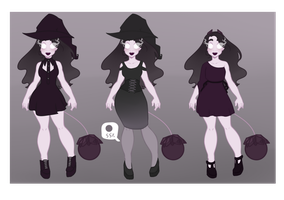 Halloween Botanical - Witch (Closed) by AmbivalentAndroid