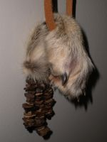 Coyote Foot Talisman Pouch by UrnesAshTree