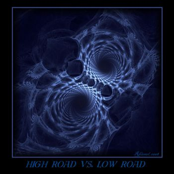 High Road vs Low Road by LadyLotusDragon