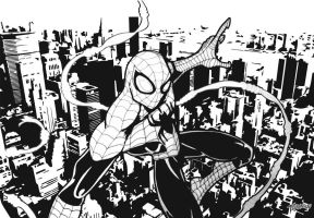 Superior Spider-Man B and W by stourangeau