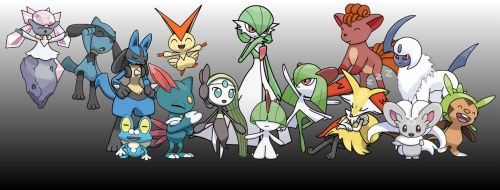 Pokemon Group Picture (2) by MarkyMarktastic