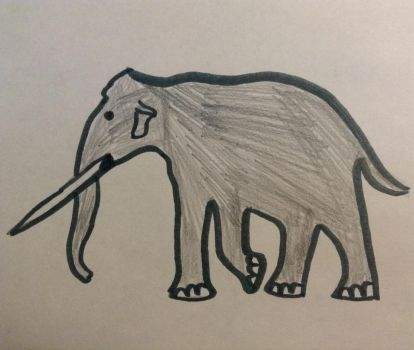Straight tusked elephant by ChrisM199